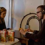 Alex Eisenberg with Daniel Eisenberg, chicken soup